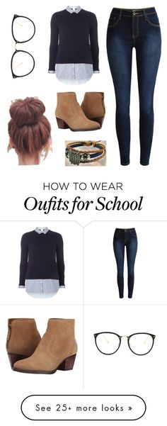 """Off to school"" by voliegrl on Polyvore featuring Dorothy Perkins, Linda Farrow and Nine West"