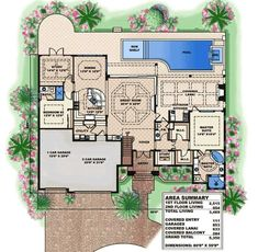 Two-Story 5-Bedroom Palatial Traditional Home with a Wide Balcony (Floor Plan) - Home Stratosphere Modern Prairie Home, Wooden Dining Set, Duplex Floor Plans, Brick Accent Walls, Balcony Flooring, Traditional Staircase, Beautiful House Plans, Stucco Exterior, Contemporary Cottage