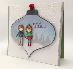 So many wonderful details on the card by Kathy. And that Ornament is detachable!