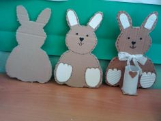 easter rabbit pencil holder