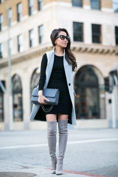 New Classics :: Knit dress & High boots