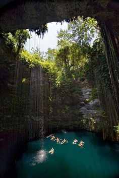 Cenotes! Sinkpits characteristic of Mexico & Central America