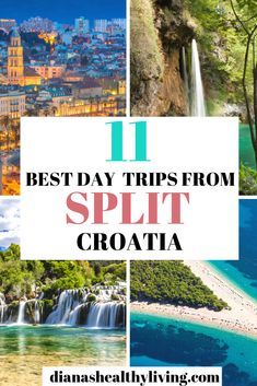 Must-see day trips from Split Croatia - Krka national park Plitvice lakes Hvar vis blue caves Trogir Brac and Europe Travel Guide, Travel Guides, Travelling Europe, Travel Advice, Traveling, European Destination, European Travel, Amazing Destinations, Travel Destinations