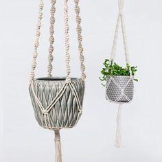 Baumwoll-Aufhänger für Blumentöpfe und Deko im Makramee-Stil #urbanjungle