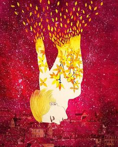 Ritual for Spring  #illustration #forsythia #drawing #watercolor #winter #spring #일러스트 #일러스트레이션 #수채화 #그림 #개나리