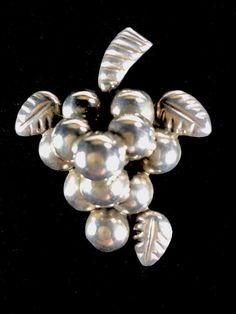 Excited to share the latest addition to my #etsy shop: Grape Cluster Brooch Mexico Sterling Vintage Collectible Jewelry