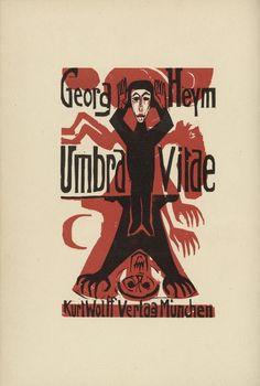 Ernst Ludwig Kirchner. Title page (Titelblatt) from Umbra vitae (Shadow of Life). 1924