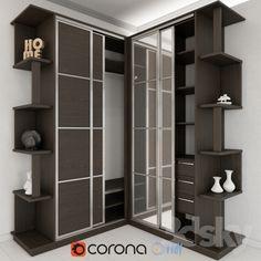 Corner sliding wardrobe