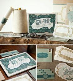 Art Deco-ish Wedding Invitations | Austin Petito (printing by Mama's Sauce)