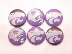 Kansas State Wildcats BIG12 1 Round Buttons by BugsButtons on Etsy