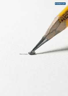 Inspired carved pencil ad