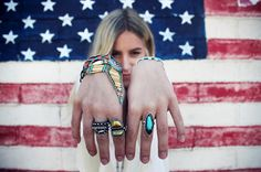 Boho stacks and rings.