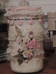 Shabby Chic Jar