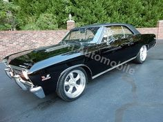 1967 Chevrolet Chevelle SS triple black, for sale Old Town Automobile in Maryland - YouTube