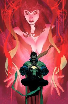 """Scarlet Witch and Doctor Strange"" by Adam Hughes 