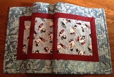 Quilted Table Runner  Merry Snowmen Table Runner by birdsongquilts