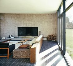Philip Johnson designed Hodgson House. Home of Messrs Craig Bassam and Scott Fellows. Photo by Bjorn Iooss (seen on Mr Porter)