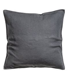 PREMIUM QUALITY. Cushion cover in washed linen with concealed zip. Tumble drying will help keep linen soft. - 20x20