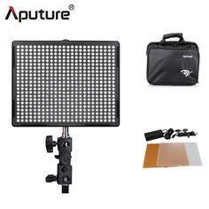 159.00$  Buy now - http://alibyz.worldwells.pw/go.php?t=1049407101 - Aputure CRI95+H528S LED video light Light panel dimmable 3200K~5500K photo video studio LED camera light dslr led light 159.00$