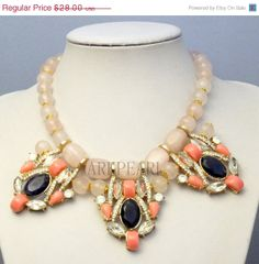 ON SALE bubble necklace,beadwork necklace,Beaded Jewelry,bib necklace,statement necklace,pendant necklace with chain
