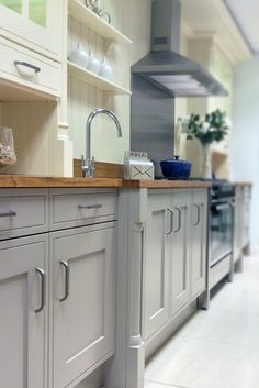 Traditional kitchen with in-frame style doors in painted hickory and buttermilk. Edwardian is also available in a range of other colours. More information at http://www.mackintoshkitchens.co.uk/kitchens/edwardian-painted