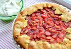 *****Strawberry-Rhubarb Galette with Whipped Cream....oh my...delicious!!!!  I will definitely make again...guest worthy...moved to Cookbook!