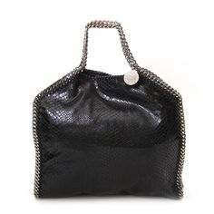 22b253c798 Labellov Stella McCartney Black Falabella Fold Over Small Tote ○ Buy and  Sell Authentic Luxury. Stella MccartneyBag