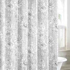 Laura Ashley Cotton Fabric Shower Curtain Bancroft Toile Blue Brown Laura  Ashley,http://www.amazon.com/dp/B00FK14C44/refu003dcm_sw_r_pi_dp_0Vuttb0RSE8Ku2026