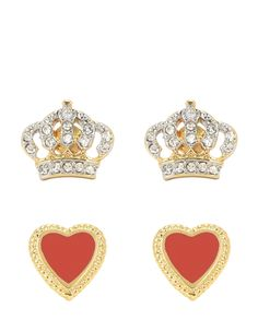 ENAMEL #HEART #EARRING SET - Juicy Couture