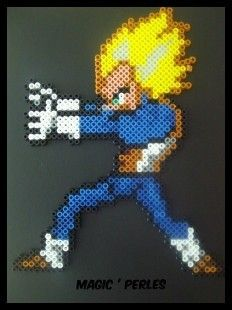 Vegeta Dragon Ball Z hama perler by Alice Tobbi