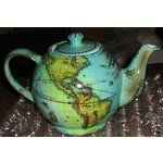 Paul Cardew Old World TERRESTRIAL GLOBE Teapot.