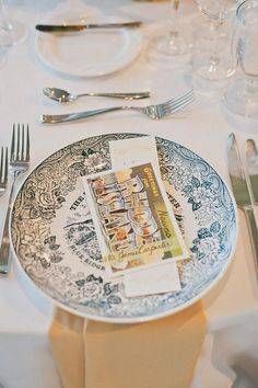 Place card #diy Photo by Sweet Little Photographs.