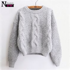 New Women Knitted Sweaters Warm Pullover and Jumpers Crewneck Mohair Pullover Twist Pull Jumpers Autumn 2018 Cable Knit Sweaters. Yesterday's price: US $44.43 (36.58 EUR). Today's price: US $18.22 (15.00 EUR). Discount: 59%.