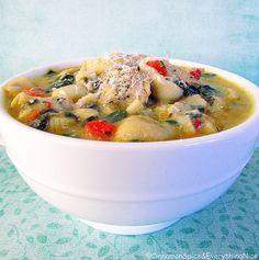 Chicken Florentine Soup w/ Pasta