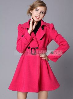 New Arrival Long Sleeves Nipped Waists Thicken Trenchcoat : Tidebuy.com