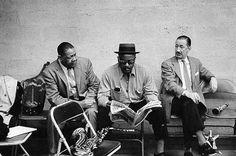 Ben Webster, Red Allen, Pee Wee Russell-photo by Milt Hinton