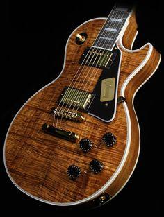 Gibson Custom Shop Les Paul with a Natural Koa top