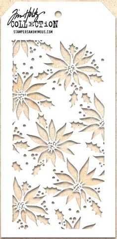 Stamper's Anonymous / Tim Holtz - Layering Stencil - Poinsettia,$5.99