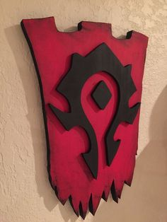 Horde Inspired 3d Wood Sign Banner Handmade World Of Warcraft Wow Orc Undead from $185.0