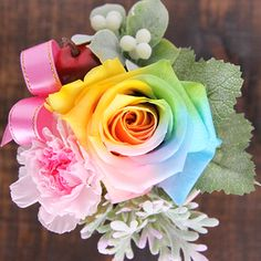 Dream roses Rainbow rose & election eat 5 color Carnation Prisa preserved, rose, rose, rose, flower gift and flower arrangement and flower gifts-gifts