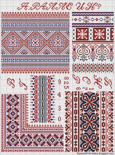 Схемы вышивки народного костюма