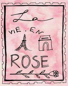 La vie en rose. #paris #eiffel #quotes