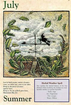 Herbal weather spell