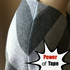 Sewing with knits can be a challenge but Stay Tape will help keep things all lined up! Quick Tip by The Sewing Loft #sewingtip #sewing