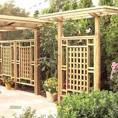garden trellis design. Freestanding Privacy Screen Trellis  grid pattern almost has an Asian Japanese garden Craftsman Style Cedar Garden Pinterest