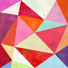 "Pink Triangle, Leinwand Druck 24 ""x 24"""