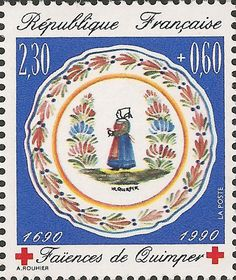 Francia 1990 - Plato de Loza de Quimper