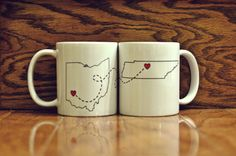 Cute mugs for long distance relationships or friendships!