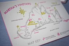 wedding map - great for out of town guests to get a feel where wedding activities and touristy things are, plus shows where key events are in relation to each other