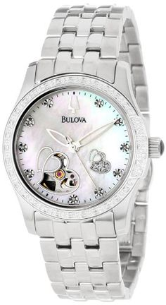 Bulova Women's 96R122 Diamond Accented Automatic Watch >> $347.43 << | Your #1 Source for Watches and Accessories